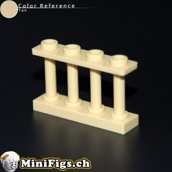 Fence Spindled 1x4x2 with 4 Studs 15332