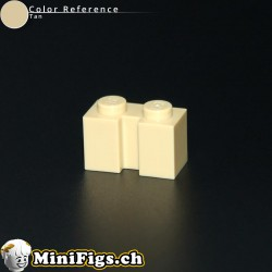 Brick, Modified 1x2 with Groove tan 4216